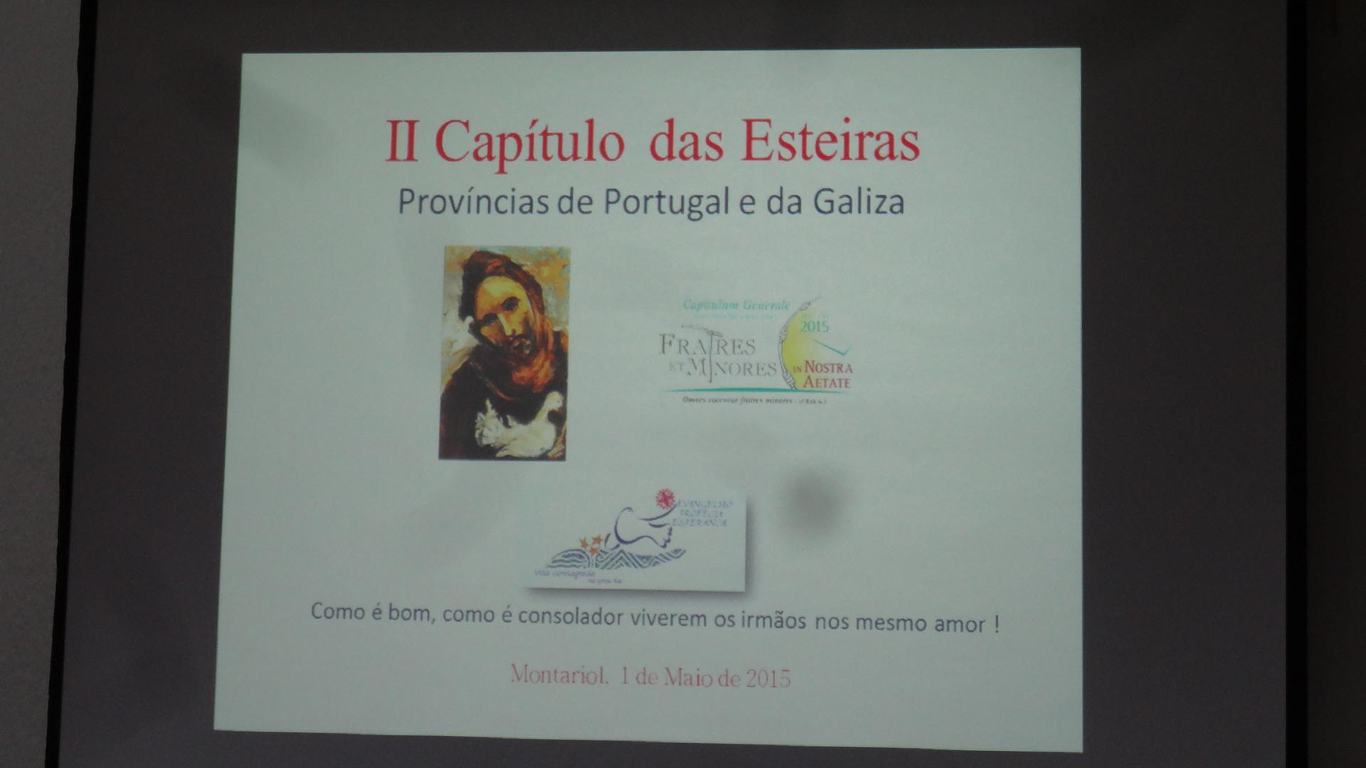 II CAPÍTULO DAS ESTEIRAS GALAICO-PORTUGUÊS OFM